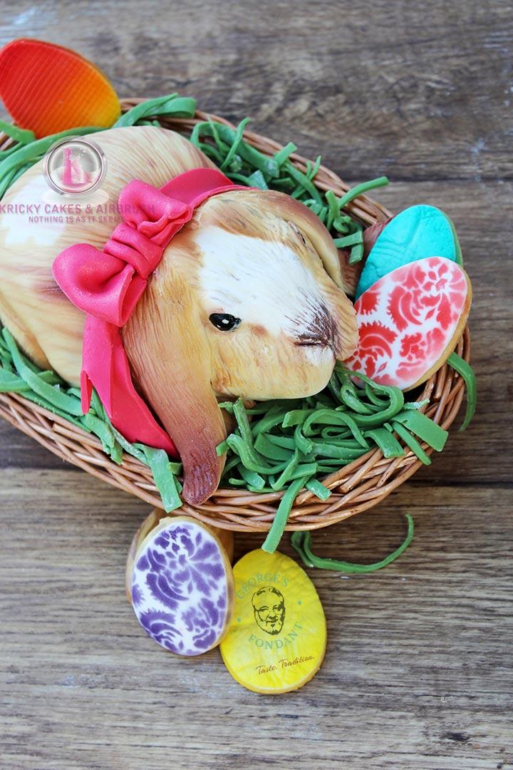 George's Fondant Art Cake Easter Bunny