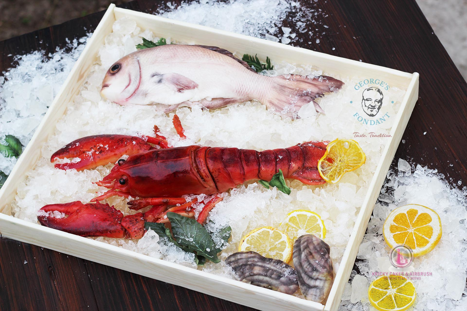 George's Fondant Art Fish Market Cake