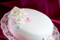 George's Fondant Colored Pink Cake