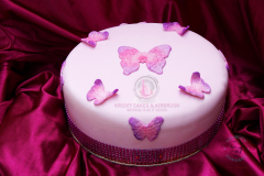 George's Fondant Classic Pink Colored Cake